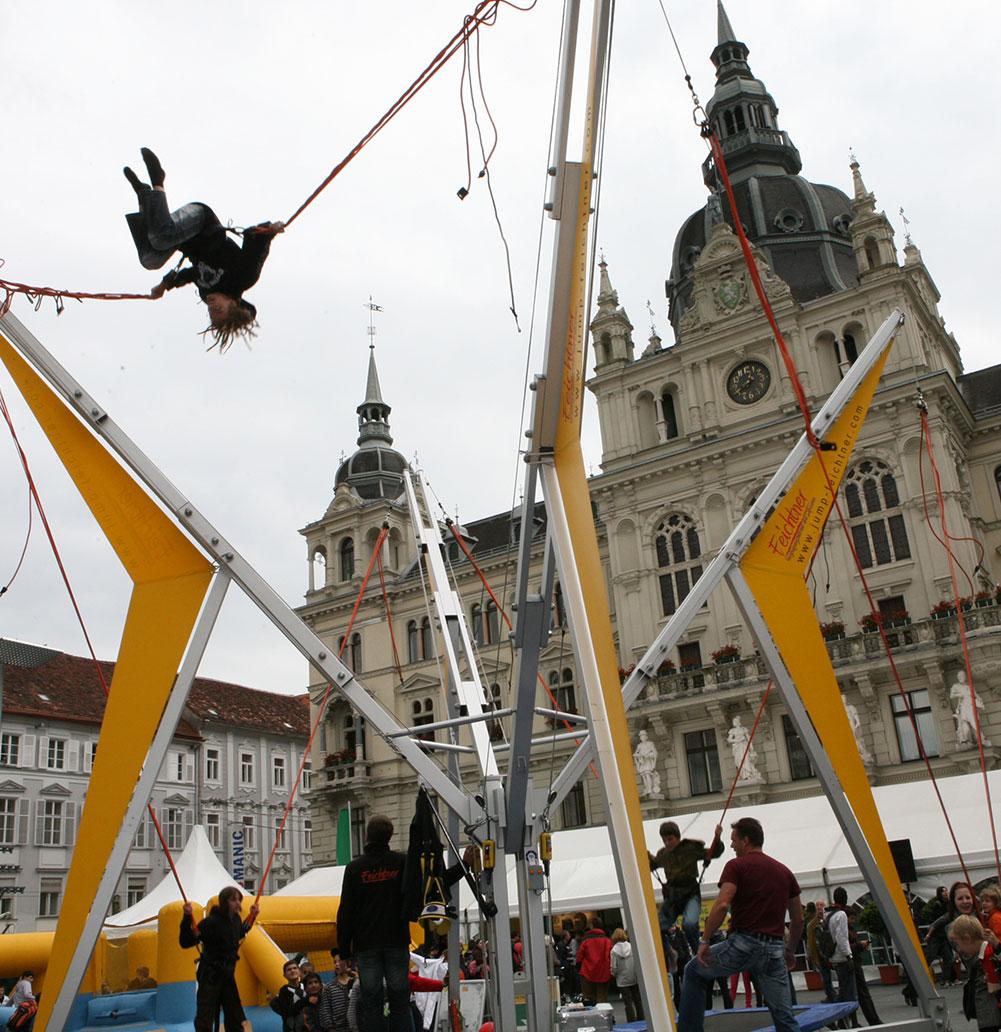 Bungee Trampolin mieten ins salzburg und Bayern